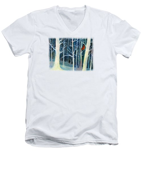 Quiet Moment Men's V-Neck T-Shirt by Hailey E Herrera