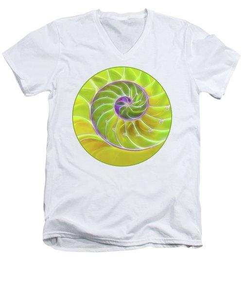 Fresh Spiral Men's V-Neck T-Shirt