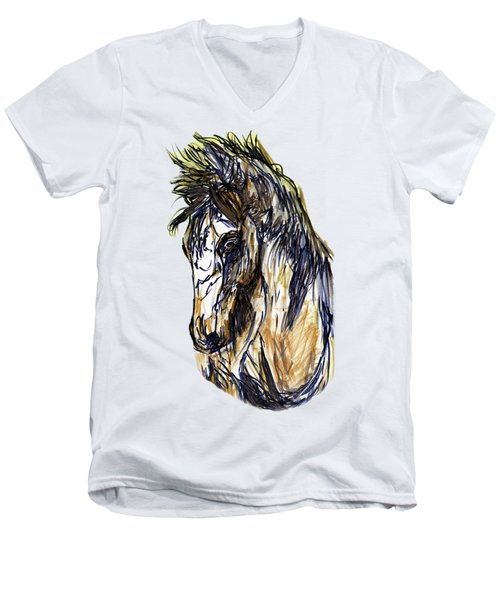 Horse Twins II Men's V-Neck T-Shirt