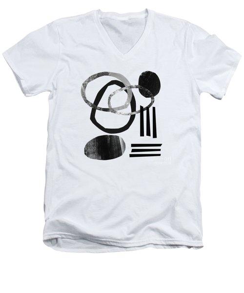 Black And White- Abstract Art Men's V-Neck T-Shirt