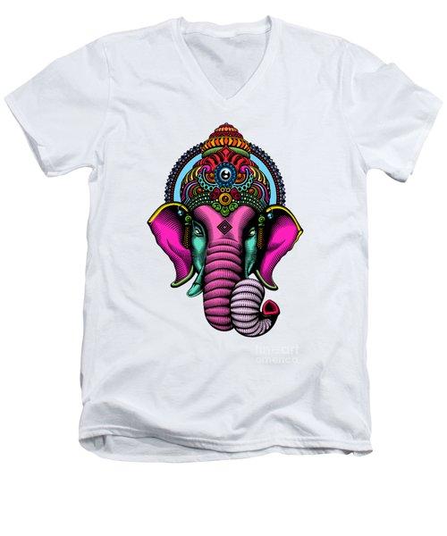 India  Men's V-Neck T-Shirt