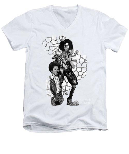 Michael Men's V-Neck T-Shirt by Terri Meredith