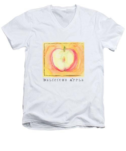 Delicious Apple Men's V-Neck T-Shirt