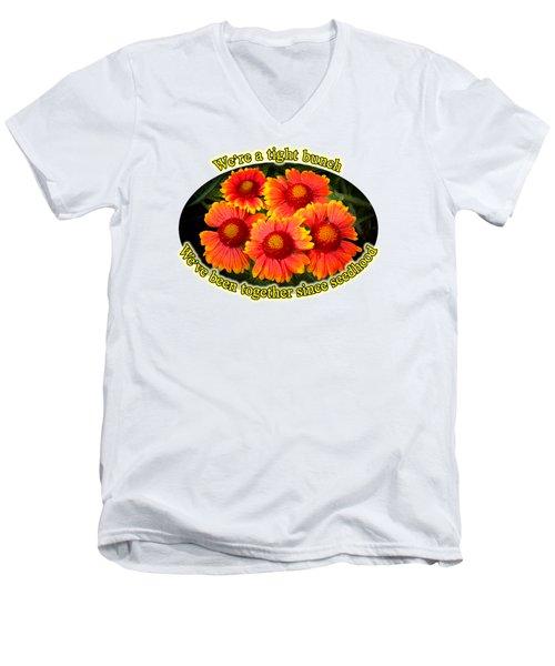 Bright Orange Gaillardia Men's V-Neck T-Shirt