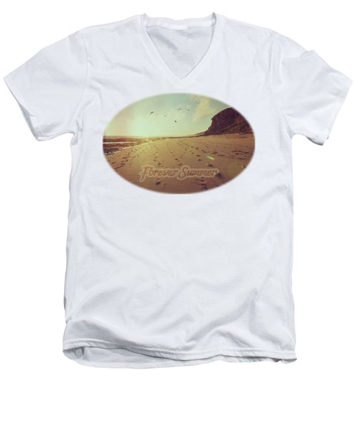 Men's V-Neck T-Shirt featuring the photograph Forever Summer 9 by Linda Lees