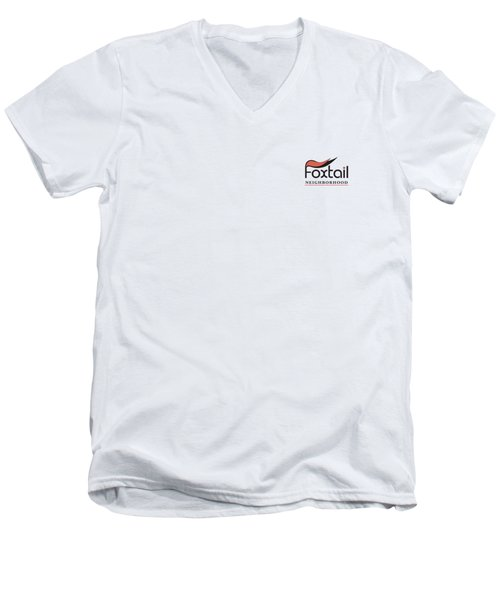 Foxtail Logo Men's V-Neck T-Shirt
