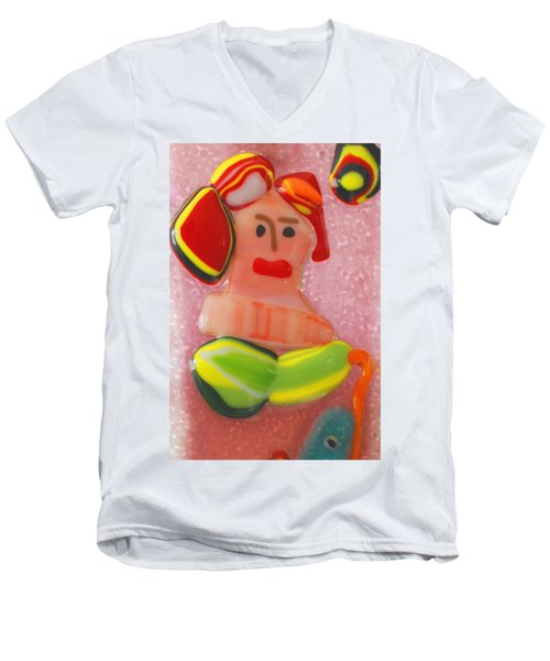 Picasso's Lady  Men's V-Neck T-Shirt