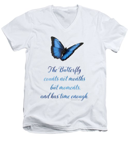 The Butterfly Men's V-Neck T-Shirt by Mary Machare