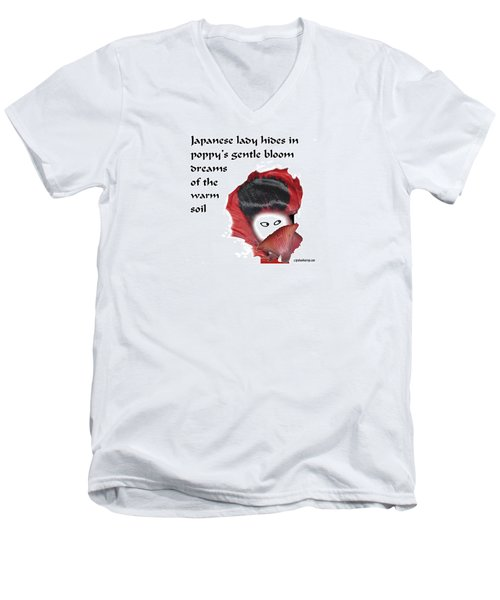 Poppy Lady Men's V-Neck T-Shirt
