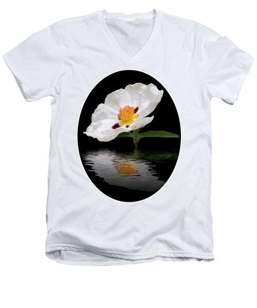Cistus Reflections Men's V-Neck T-Shirt by Gill Billington