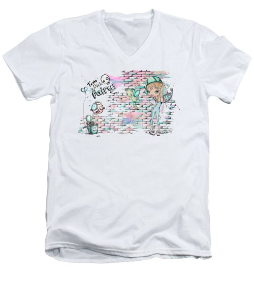 Tom Dick And Fairy Men's V-Neck T-Shirt by Lizzy Love