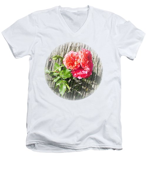 Floral Escape Men's V-Neck T-Shirt
