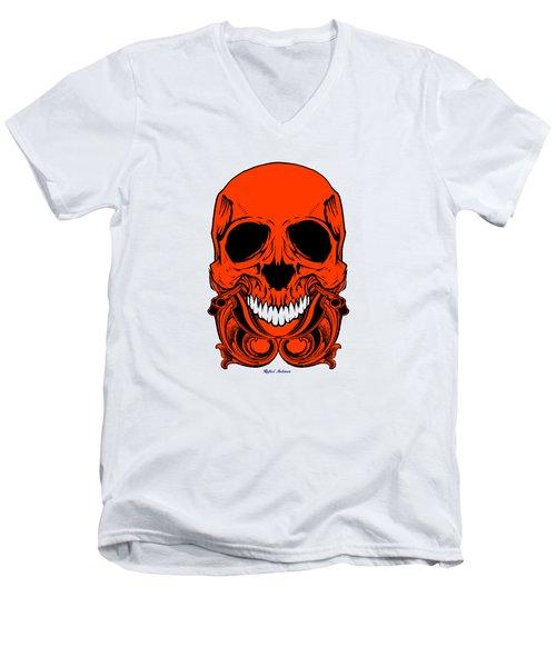 Red Skull  Men's V-Neck T-Shirt