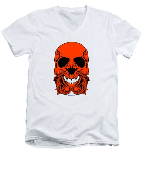 Red Skull  Men's V-Neck T-Shirt