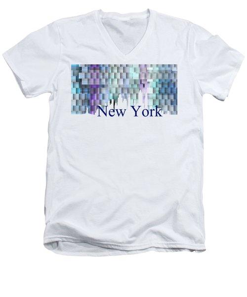 New York Blue Shadows, Men's V-Neck T-Shirt