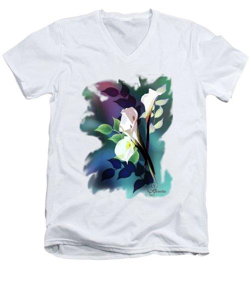 Bouquet In White Men's V-Neck T-Shirt