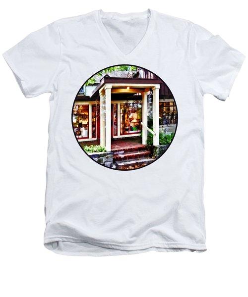 New Hope Pa - Craft Shop Men's V-Neck T-Shirt by Susan Savad