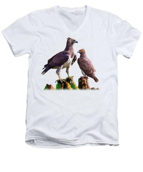 Martial Eagles Men's V-Neck T-Shirt by Anthony Mwangi