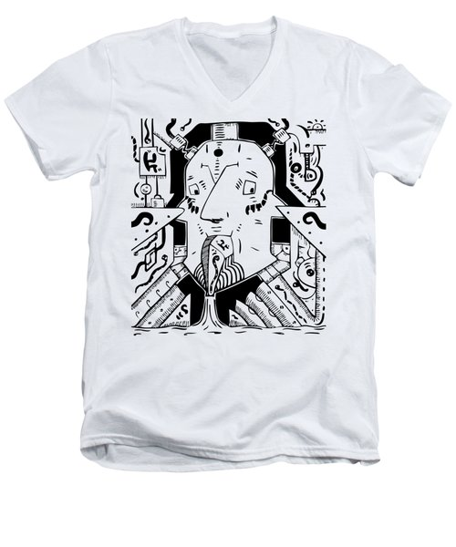 Surrealist Pump Men's V-Neck T-Shirt