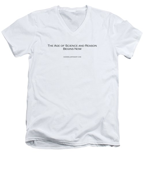 Science And Reason Men's V-Neck T-Shirt by David Miller