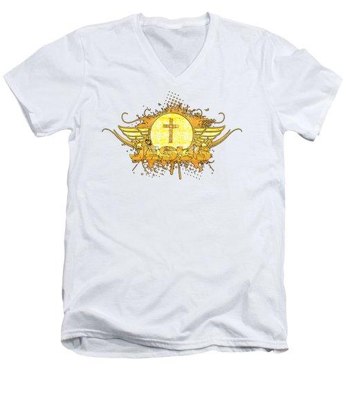 God Love Peace Men's V-Neck T-Shirt