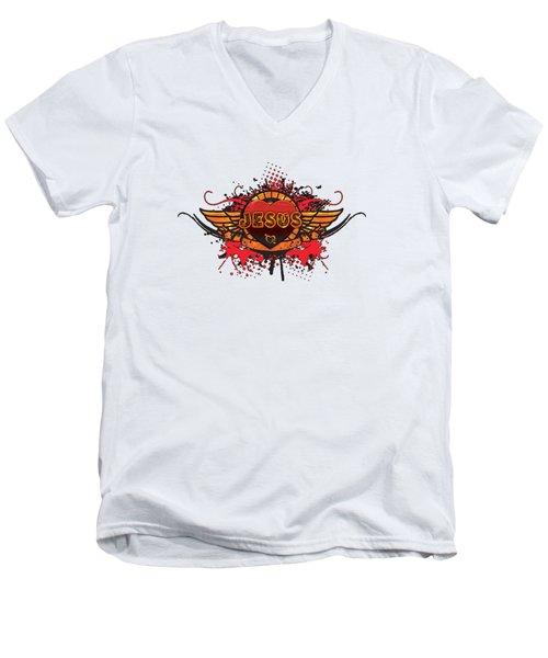 Reunion Island Men's V-Neck T-Shirt