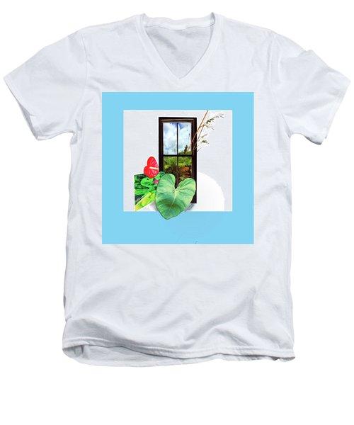 Anthurium Men's V-Neck T-Shirt