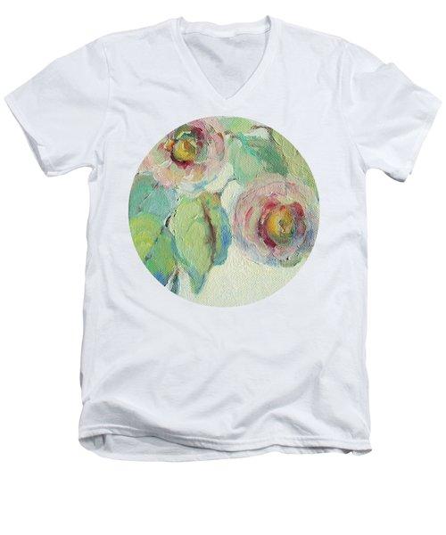 Impressionist Roses  Men's V-Neck T-Shirt