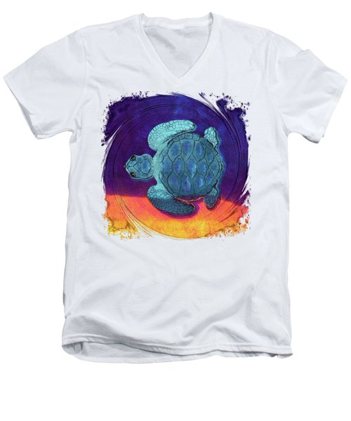 Sea Surfing Men's V-Neck T-Shirt by Di Designs