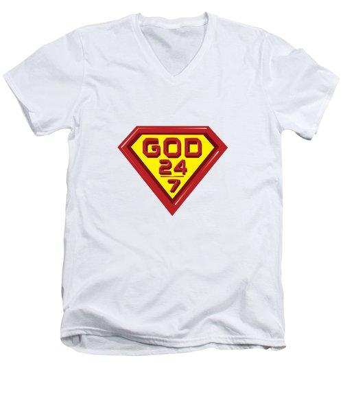 3 D Red/yellow Designer Design Men's V-Neck T-Shirt
