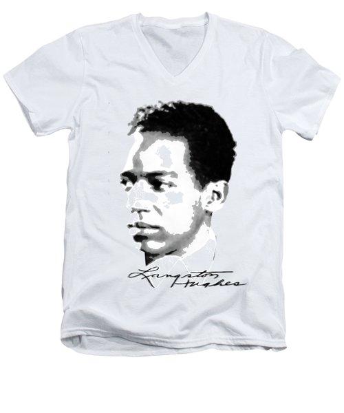 Langston Hughes Men's V-Neck T-Shirt