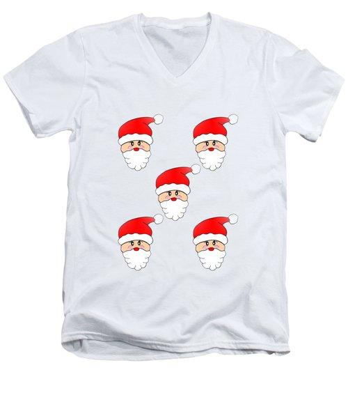 Visions Of Santa Men's V-Neck T-Shirt