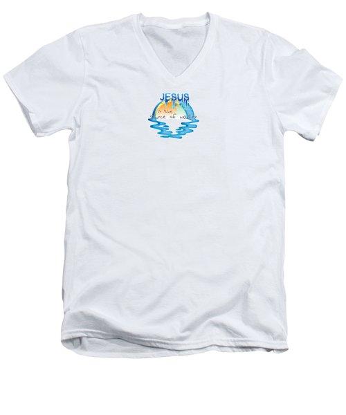 Source Of Water Men's V-Neck T-Shirt