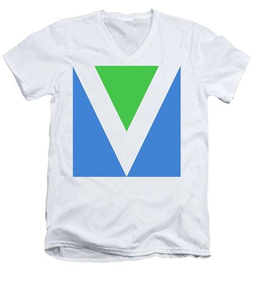 Official Vegan Flag Men's V-Neck T-Shirt
