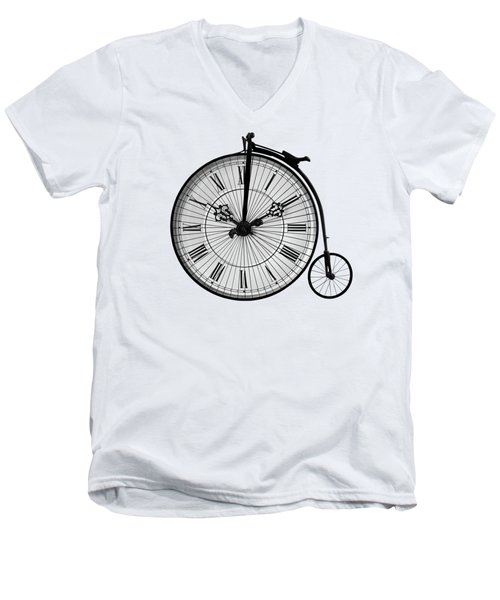 Time To Ride Penny Farthing Men's V-Neck T-Shirt