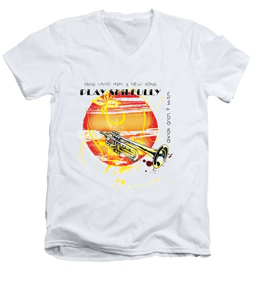 Sing Unto Him A New Song Men's V-Neck T-Shirt