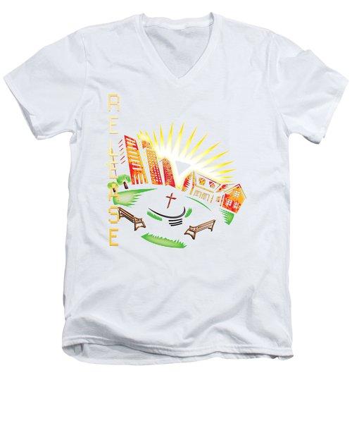 Matthieu 8 20 Men's V-Neck T-Shirt