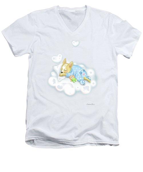 Chihuahua Zoe Baby Men's V-Neck T-Shirt