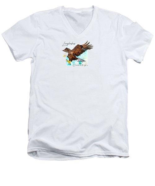 Renewed Like The Eagle's Men's V-Neck T-Shirt