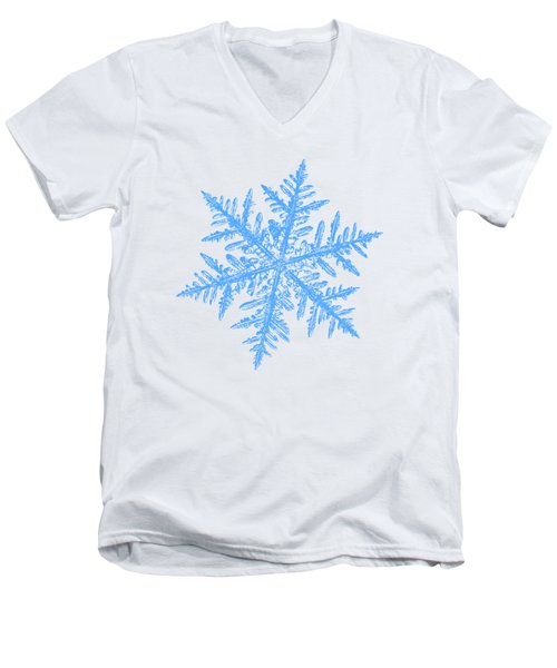 Snowflake Vector - Silverware White Men's V-Neck T-Shirt