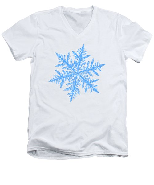 Snowflake Vector - Silverware White Men's V-Neck T-Shirt