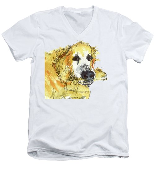 Cinders Chief Dog Men's V-Neck T-Shirt