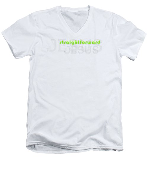 Straightforward Men's V-Neck T-Shirt