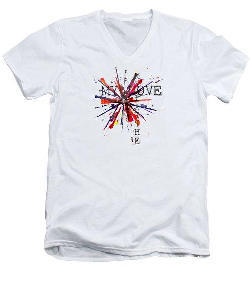 My Faith My Love Men's V-Neck T-Shirt
