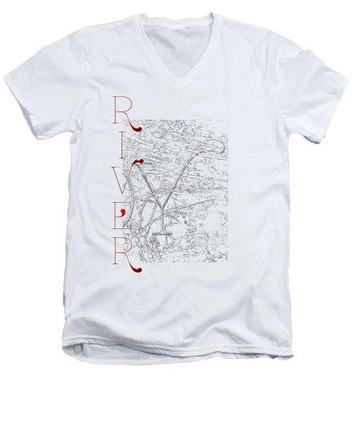 Joy River Men's V-Neck T-Shirt
