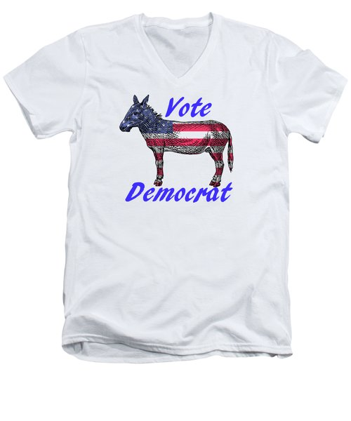 Vote Democrat Men's V-Neck T-Shirt