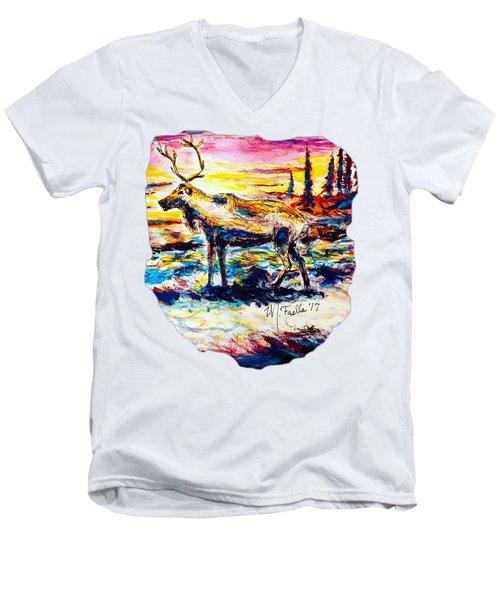 Solitude Caribou Men's V-Neck T-Shirt