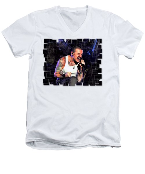 Chester Bennington From Linkin Park  Men's V-Neck T-Shirt
