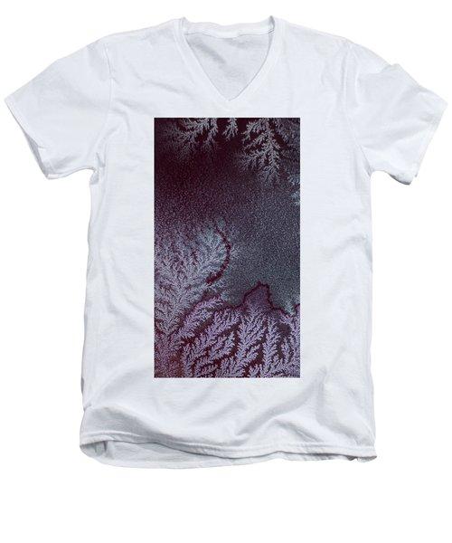 Ammonium Chloride Crystal Men's V-Neck T-Shirt