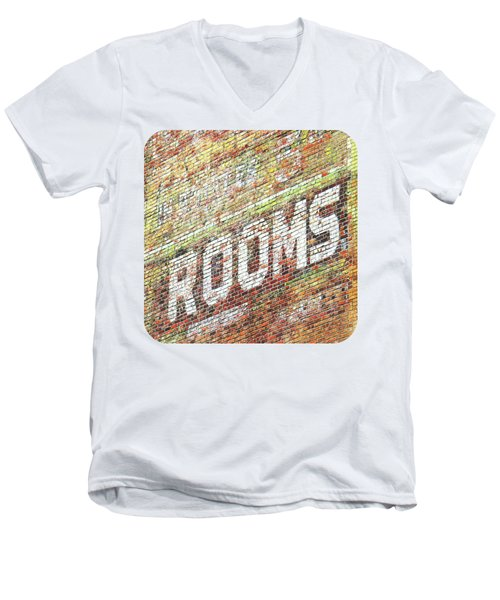 Men's V-Neck T-Shirt featuring the photograph Rooms by Ethna Gillespie